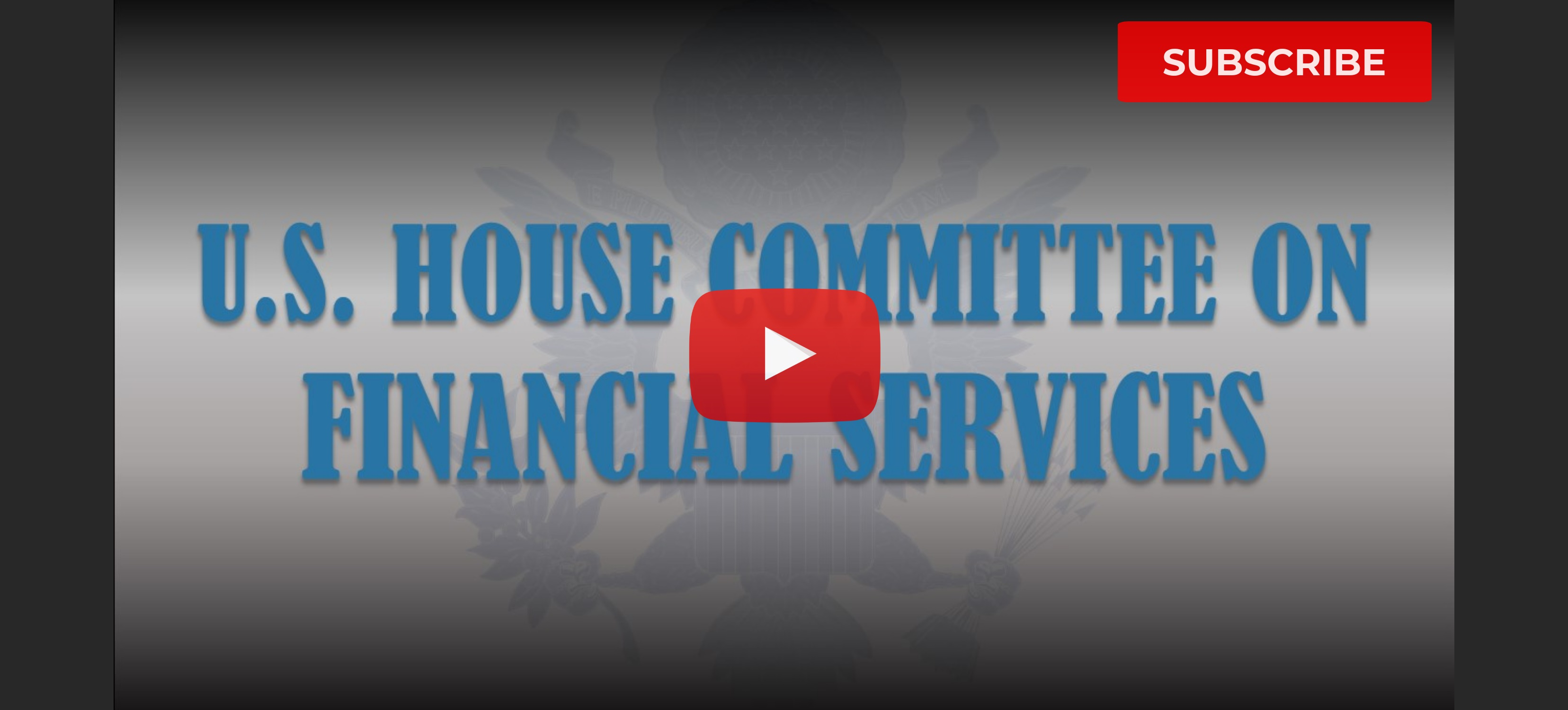 U S  House Committee on Financial Services